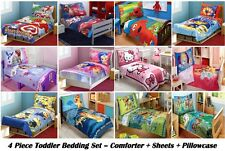 4PC BOYS GIRLS TODDLER BEDDING SET Comforter+Sheets+Pillowcase -MULITIPLE CHOICE