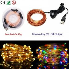 10M 100LEDs Copper Wire String Fairy Light Indoor Outdoor Home Party Decor USB