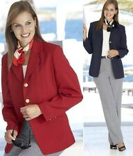 WOMENS SIMPLY BE RED BLACK NAVY SMART CASUAL WORK SUIT BLAZER JACKET SIZE 12 14