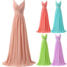 Long Chiffon Womens Bridesmaid Evening Dress ball gown cocktail formal Prom 6-20