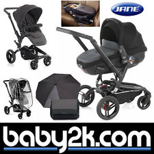 Jane Rider Matrix Light 2 Travel System Lie Flat Car Seat Pushchair Cloud Black