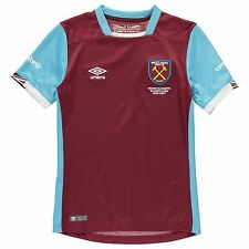 Umbro West Ham United FC Home Jersey 2016 2017 Juniors Football Soccer Top Shirt
