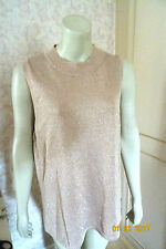 MARKS & SPENCER NUDE SPARKLE EVENING TOP SIZE 18 & 20 IN STOCK