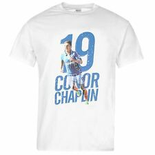 Portsmouth FC 19 Conor Chaplin T-Shirt Mens White Football Soccer Top Tee Shirt