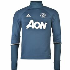 Adidas Manchester United FC Training Top Mens Blue/Navy Football Soccer Shirt