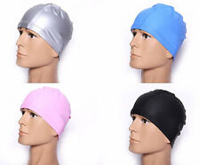New Adult PU Swim Cap Flexible Durable Elasticity Waterproof Swimming Hat
