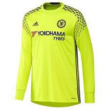 Adidas Chelsea FC Home Goalkeeper Jersey 2016 2017 Mens Yellow Football Soccer