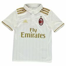Adidas AC Milan Away Jersey 2016 2017 Juniors White Football Soccer Top Shirt