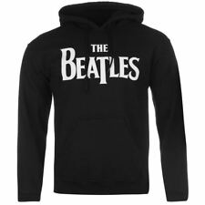 The Beatles Official Drop T Logo Pullover Hoody Mens Black Hoodie Sweatshirt
