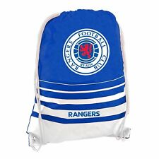 Glasgow Rangers FC Drawstring Gym Bag Blue/White Football Soccer Sports Kit Sack
