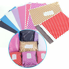 Polka Dot Printed Post Plastic Mailing Bags Strong Self Seal 100% Recycled