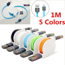 1M Retractable Micro USB 2.0 Data Sync Charger Charging Cable For Samsung Lot