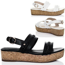 Womens Platform Wedge Heel Flatform Sandals Shoes Sz 5-10