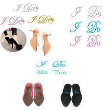 Romantic I Do Me Too Rhinestone Bride Groom Shoes Wedding Sticker Crystal Decal