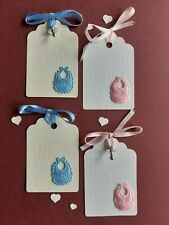 10 BEAUTIFUL HEART PLACECARDS/GIFT TAGS /WISHING TREE TAGS/BABY SHOWER TAGS