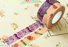 Classiky Cartoon Washi tapes B Race & Mr Fashionable planner deco masking tapes