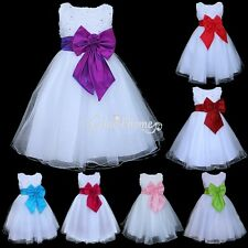New 2017 Flower Girl Dress Formal Party Wedding Bridesmaid Christening Dresses