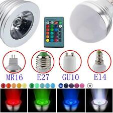 3W GU10 E27 MR16 RGB LED Bulb Lamp light 16 Color changing IR Remote