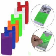 Silicone Adhesive Pouch Credit Card Holder for Smart Cell Phone iPhone & More