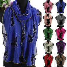 Spring Lightweight Beautiful Butterfly Shiny Dots Soft Long/Infinity Scarf New