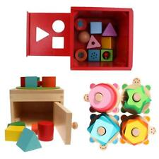 Colorful Wooden Block Sorting Sorter Box Children Baby Educational Game Toys