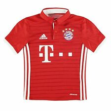Adidas Bayern Munich Home Jersey 2016 2017 Juniors Red/White Football Soccer Top