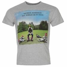 George Harrison Official All Things Must Pass T-Shirt Mens Grey Top Tee Shirt