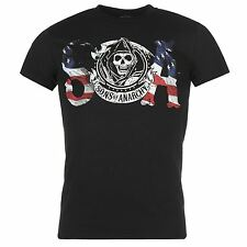Sons of Anarchy Official T-Shirt Mens Black Top Tee Shirt