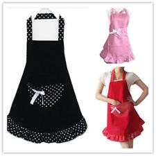 Fashion Bowknot Cooking Craft Lovely Kitchen Apron Restaurant Bib 3 Colors