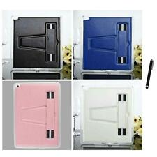 For Apple iPad Air TPU Leather Hand Strap Holder Case Grip Glove Stylus Pen