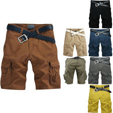 HOT Mens Fashion Cotton Blend Loose Fit Summer Cool Shorts Cargo Pants Soft Jean