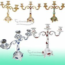 3 Arms Candelabra Taper Candle Holders Chandeliers Wedding&Romantic Dinner 38cm