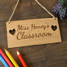 Personalised Teacher Classroom Sign - Unique Gift Idea Thank You Present Gift