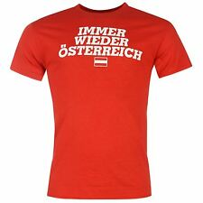 Austria Fan T-Shirt Mens Red National Top Tee Shirt Football Soccer