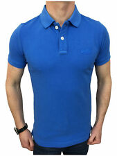 Superdry Mens Vintage Destroyed S/S Pique Polo Shirt in Lapis Blue