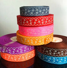 "10 Yards Printed Organza Ribbon 1"" DIY Sewing Craft  Home Wedding Party Supplies"