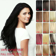 15''18''20''24''28'' Clip in Remy Hair Extensions 100% Real Human Hair Full Head