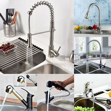 Modern Luxury Mixer Tap Faucet Brass Pull Out Spray Kitchen Bathroom Basin Sink