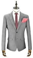 Mens Linen Slim Fit Blazer Jacket By Cavani Black/Grey Puppy Tooth