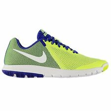 Nike Flex Experience 5 Running Shoes Mens Volt/Wht/Blue Sports Trainers Sneakers