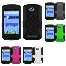 For Coolpad Quattro 4G 5860E Hybrid Rugged Impact Hard Soft Case Phone Cover
