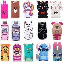 3D Cartoon Disney Silicone Soft Dropproof Kid Cover Case SkinFor Samsung Sony LG