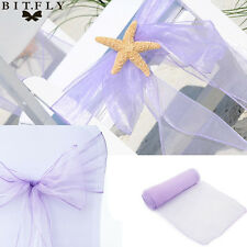 New 100PCS Organza Chair Sashes Bow Wedding Decoration Cover Banquet Cover Bows