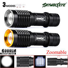 Portable CREE XM-L Q5 AA/14500 Zoomable 6000LM LED Flashlight Torch Lamp 3 Modes