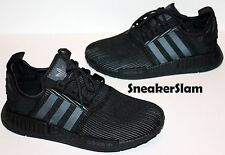 NEW Adidas NMD R1 Nomad Runner Triple Black Reflective BY3123 Size 7.5