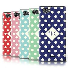 Personalised Custom Polka Dot Phone Case for Sony Xperia J (ST26i)/Initial Cover