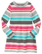 NWT Gymboree ENCHANTED WINTER SZ 4 or 5 Striped Ribbed Sweater Dress NEW