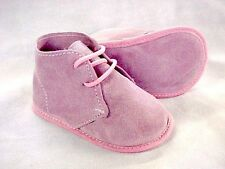ABA Baby Girl Suede Booties Pink Made In Italy 9-12 Months, 12 Months +  RRP:$89