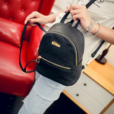 Women Girl Faux Leather Backpack Travel Handbag Rucksack Shoulder School Bag