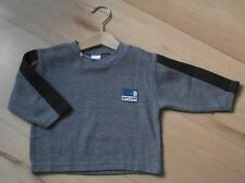 NEW Baby Boys Clothes ADAMS 12-18 Months Cotton Casual Grey Long Sleeved Top